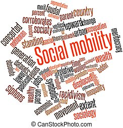 Social mobility - Abstract word cloud for Social mobility...