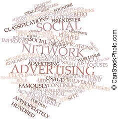 Social network advertising - Abstract word cloud for Social...