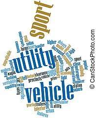 Sport utility vehicle - Abstract word cloud for Sport...
