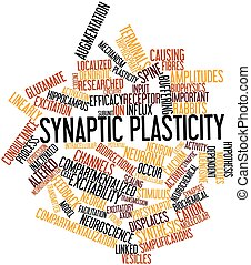 Synaptic plasticity - Abstract word cloud for Synaptic...