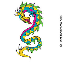 Long chinese dragon worm