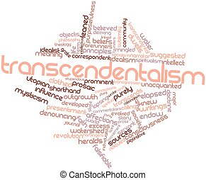 Transcendentalism - Abstract word cloud for...
