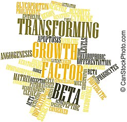 Transforming growth factor beta - Abstract word cloud for...