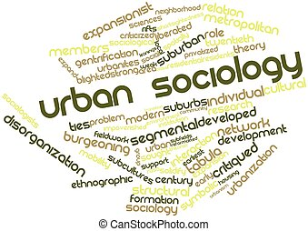 Word cloud for Urban sociology - Abstract word cloud for...