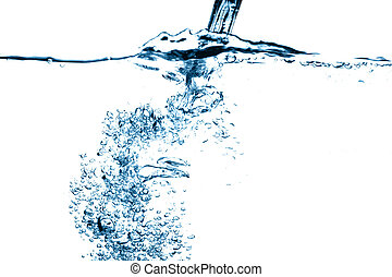 water stream falling - water falling close up bubble stream