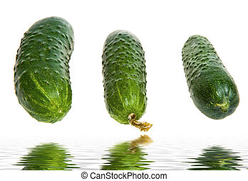 group of cucumbers