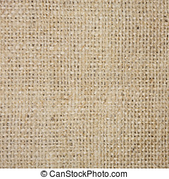 Coarse brown fabric in country style closeup
