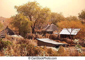 African village - african landscapes in Sudan