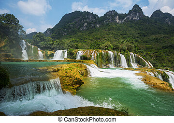 Waterfall in Vietnam - Ban Gioc - Detian waterfall in...