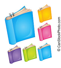 books - illustration of books on a white background