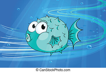 a fish - illustration of under water fish