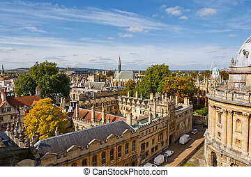 Oxford. UK - Cityscape of Oxford. England, Europe