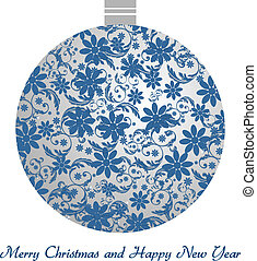 Christmas ball - vintage - Christmas ball with floral...