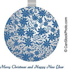 Christmas ball - vintage - Christmas ball with floral...