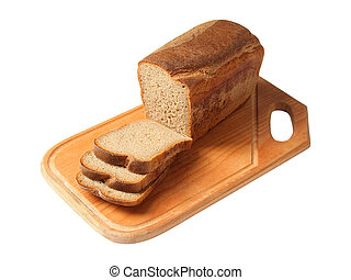 marrón, corte, tabla,  bread