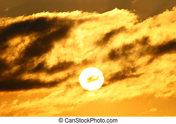 sunset sky beautiful nature background