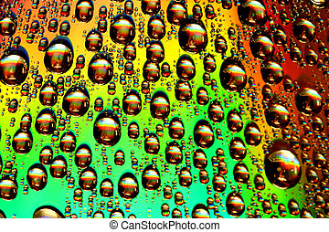 multicolored waterdrops - clean multicolored waterdrops...