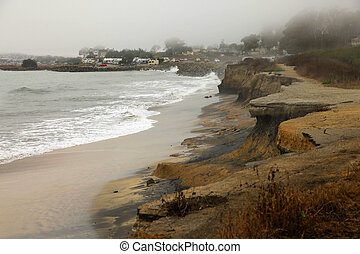 half moon bay - California Coast at Half Moon Bay in the...