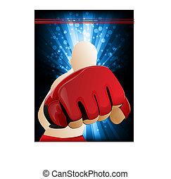 Mixed Martial Arts Illustration - MMA figther punching