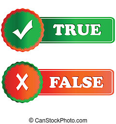 Buttons true and false