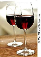 vidrio, multa, italiano, rojo, vino