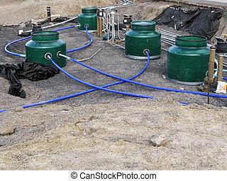 Underground fuel storage tanks - new installation of...