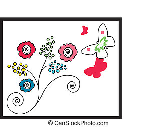 flowers drawing - Is a illustration in  a EPS file.