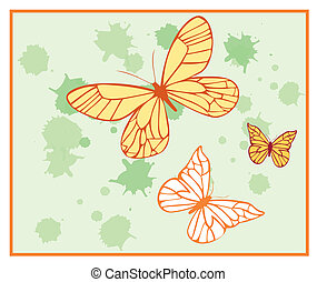 painted butterflies 2 - Is a illustration in  a EPS file.