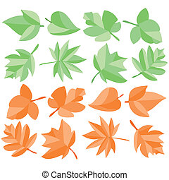leaves colored - Is a illustration in  a EPS file.