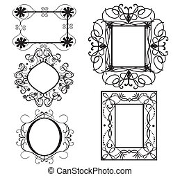vintage frame - Is a illustration in a EPS file