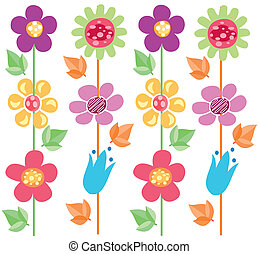 flowers pattern 2 - Is a illustration in a EPS file