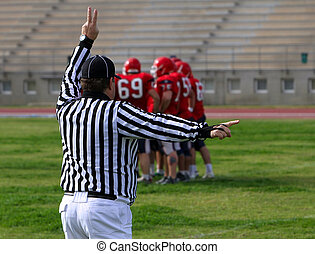Referee on the American Football Game