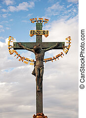 Crucifixion in Prague - Crucifixion on the Charles Bridge in...