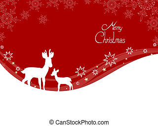Merry christmas - Vector illustration of a red christmas bow...