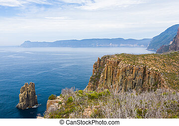 Tasman National Park, Tasmania - View from near Cape Hauy,...