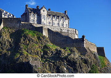 Edinburgh Castle , Scotland, UK - Sundown at Edinburgh...