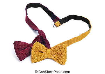 gay love or gay marriage - two bow ties forming a heart...