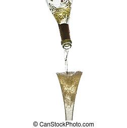 champagne, versare, iwird
