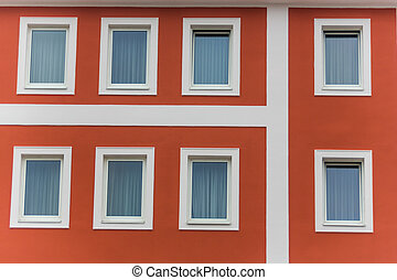 window of an apartment building - the windows in an...