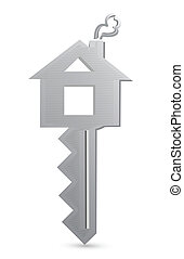 house key illustration design over a white background