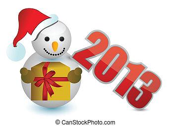 2013 snowman sign