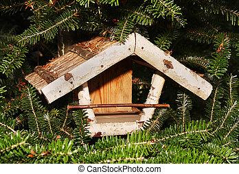 birdhouse in the autumn tree