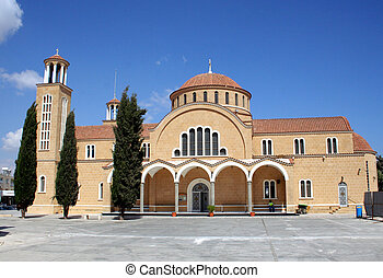 Traditional Cypriot Church - Exterior facade of traditional...