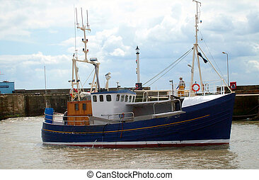Fishing trawler in harbor - Fishing boat in Brislington...