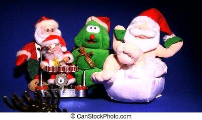 SANTA CLAUS & christmas tree 5 toys