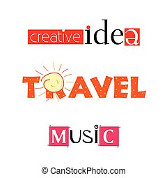 creative idea travel music vector illustration