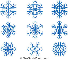 Snow flakes set - Design snow flakes set on white background