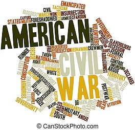 American Civil War - Abstract word cloud for American Civil...