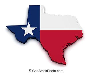 Texas Map Flag Shape