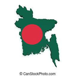 mapa, formułować, Bangladesz,  3d